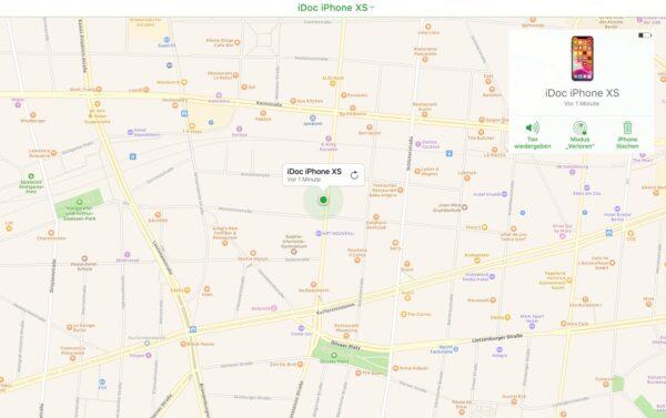 Mein iPhone suchen Standort ist gespeichert