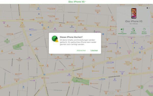 Mein iPhone suchen deaktivieren: Standort ist gespeichert - iPhone löschen
