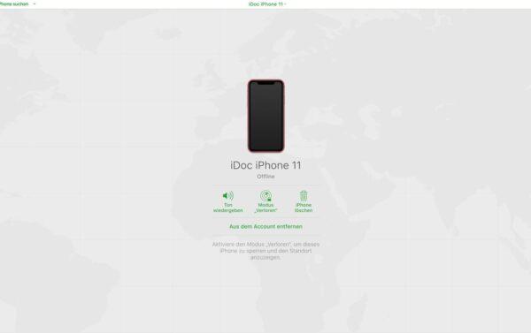 Mein iPhone suchen deaktivieren, Standort ist nicht gespeichert