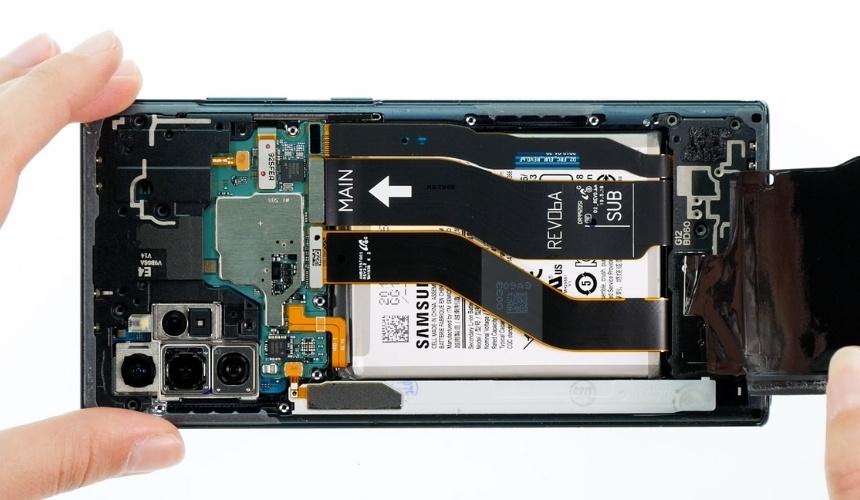 Das Innere des Galaxy Note 10+