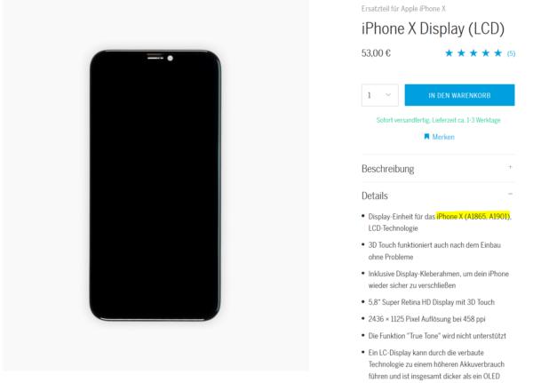 Identifiziere dein iPhone Modell mit Hilfe der Angaben bei uns im Store