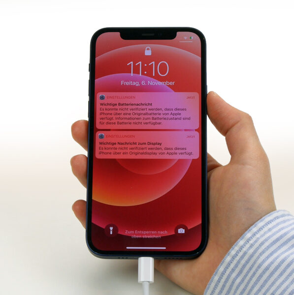Apple Warnhinweise Sperrbildschirm